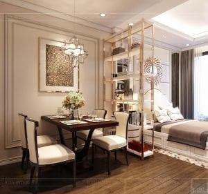 thiết kế nội thất căn hộ Officetel Masteri Millennium 42m2