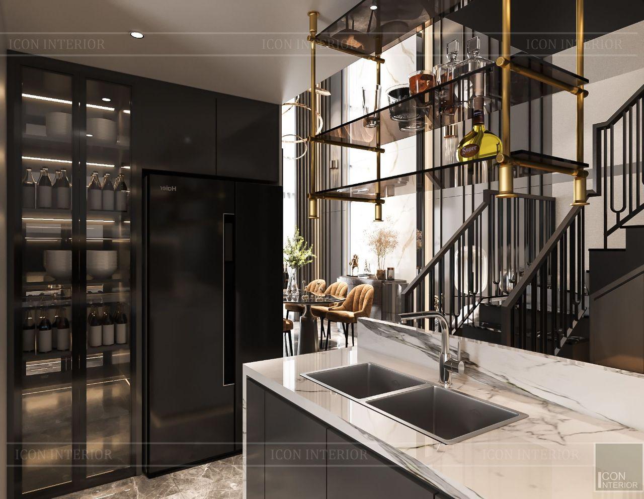 Mẫu thiết kế nội thất chung cư 100m2 Feliz En Vista phòng bếp