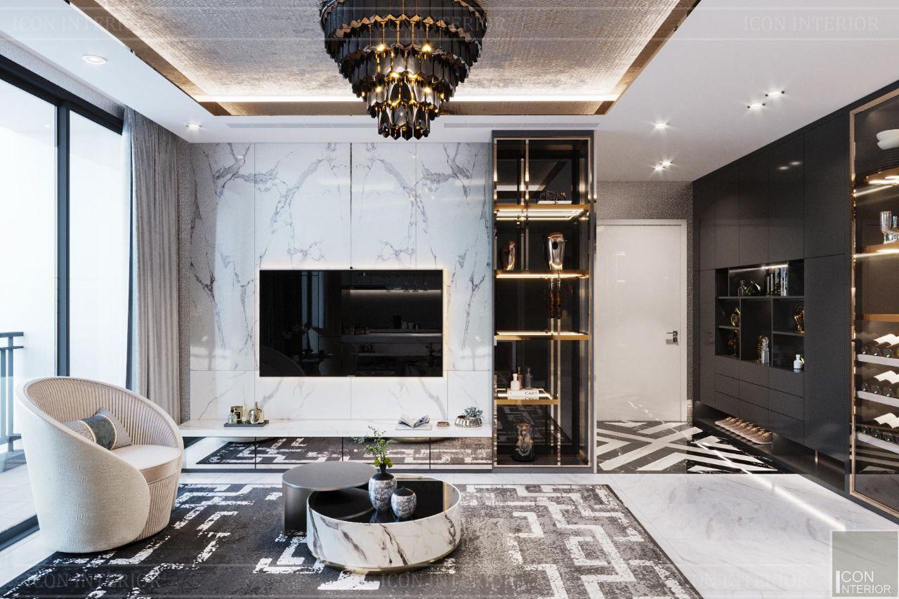 thiết kế nội thất nhà chung cư 90m2 Vinhomes Central Park 90m2 Ms. Linh