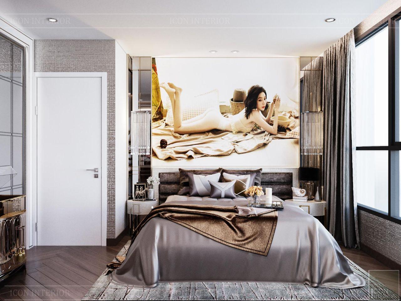 phòng ngủ master căn hộ Vinhomes Central Park 90m2 Ms. Linh