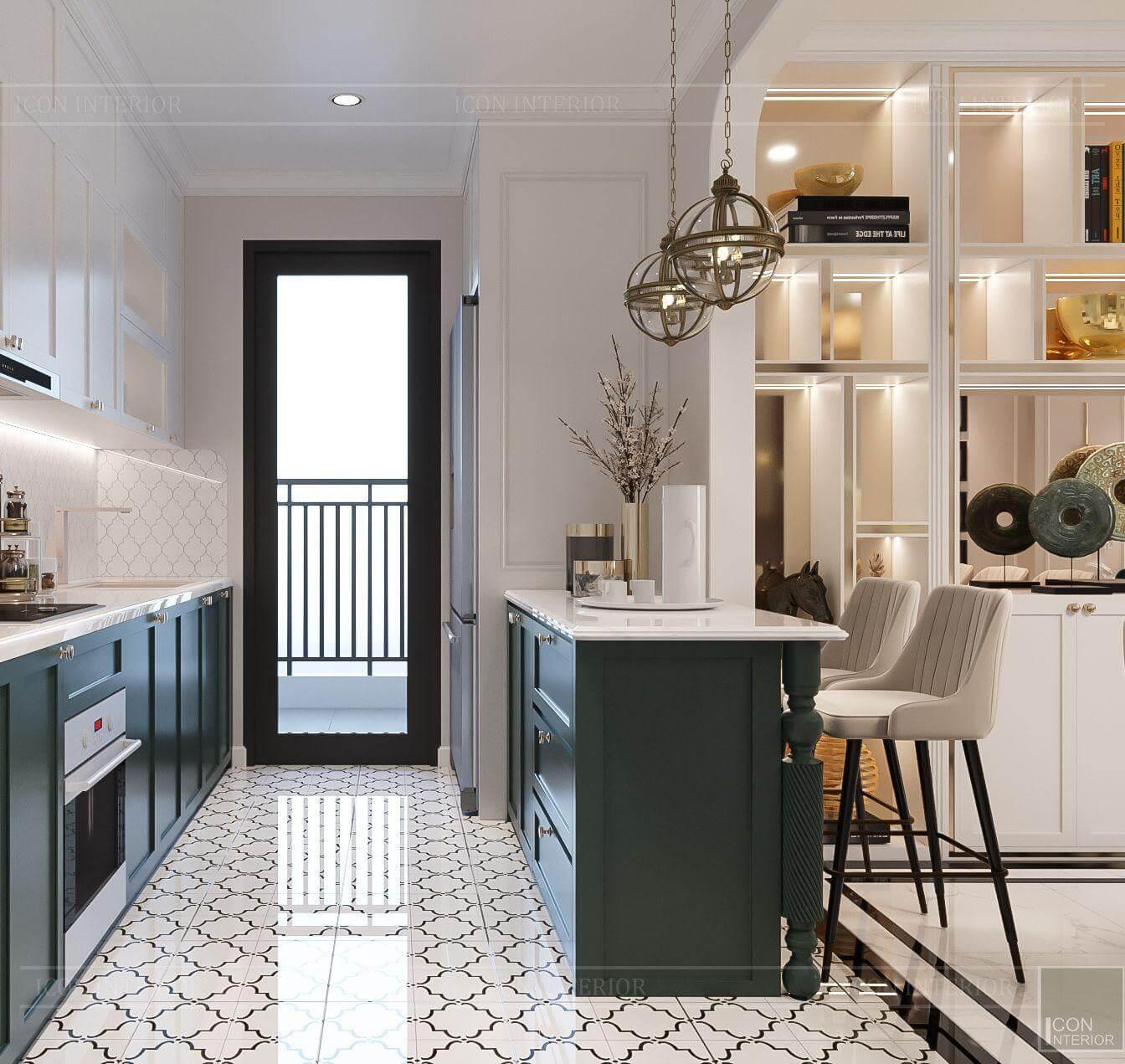 Thiết kế phòng bếp căn hộ Hado Centrosa 139m2 Mr.Toàn