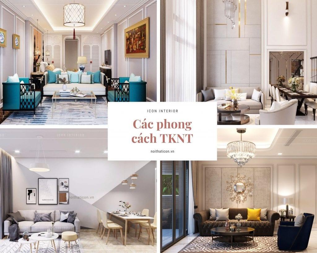 Các phong cách thiết kế nội thất 2020