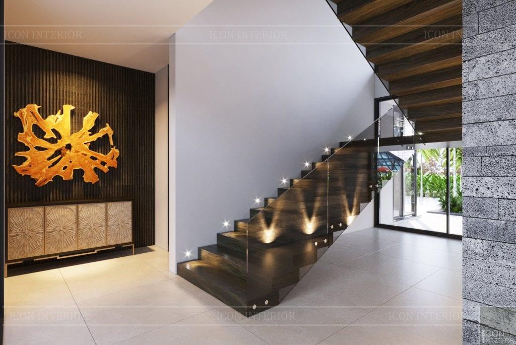 Cầu thang đẹp bằng chất liệu gỗ sang trọng
