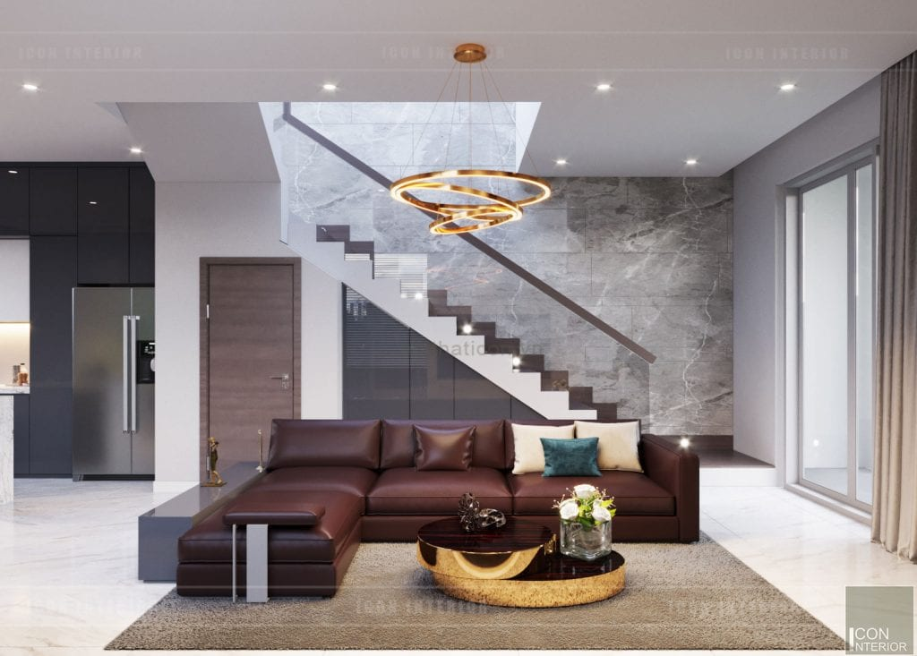 Cầu thang đẹp bằng kính