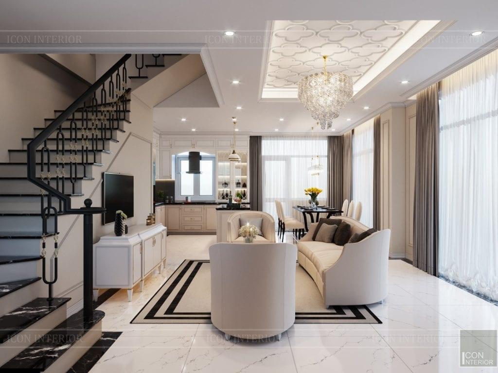 Cầu thang đẹp cho phòng khách thêm sang