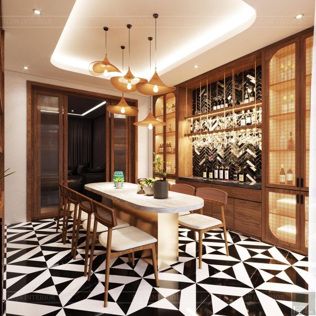 Phòng bếp phong cách thiêst kế nhiệt đới