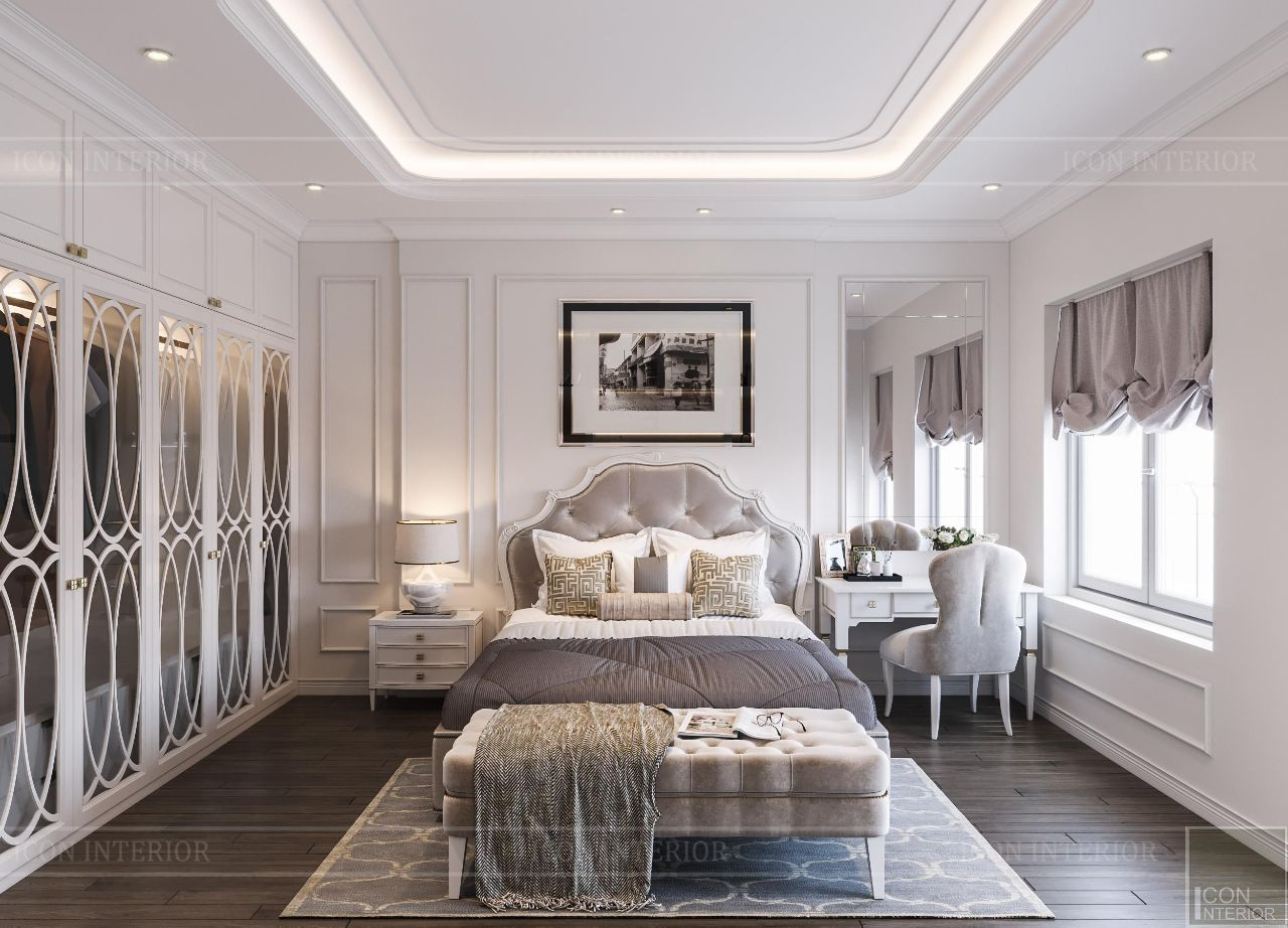 thiết kế nội thất căn hộ 90m2 2 phòng ngủ