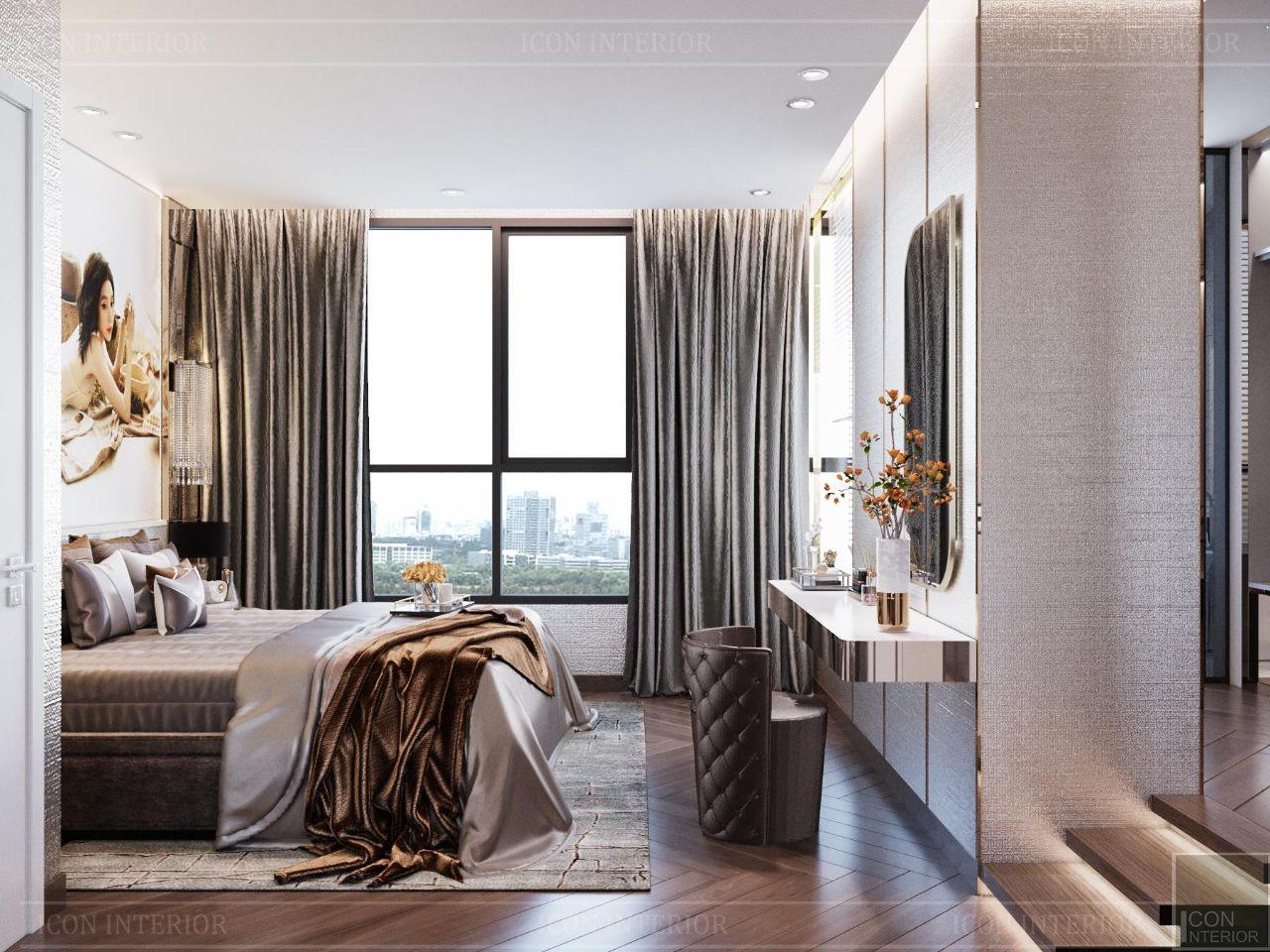 Thiết kế nội thất căn hộ 90m2 Vinhomes Central Park Ms. Linh - phòng ngủ master