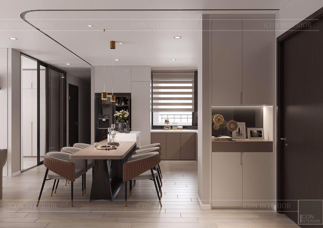 thiết kế nội thất căn hộ 90m2 hiện đại