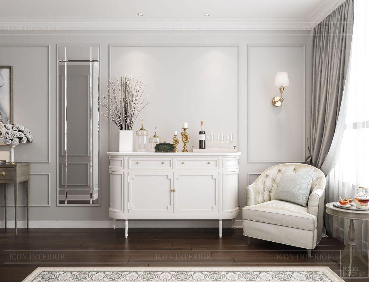 thiết kế nội thất căn hộ 90m2 hot