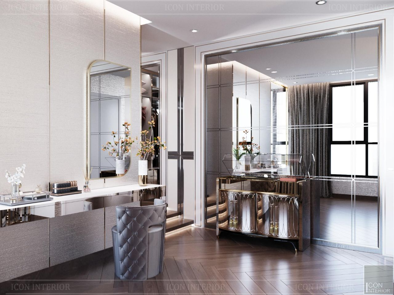 Thiết kế nội thất căn hộ 90m2 Vinhomes Central Park Ms. Linh - phòng ngủ
