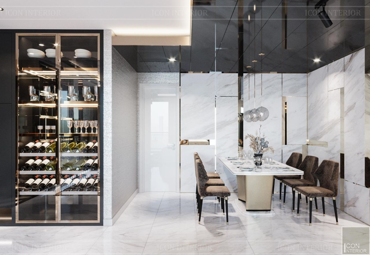 Thiết kế nội thất căn hộ 90m2 Vinhomes Central Park Ms. Linh - khu vực ăn