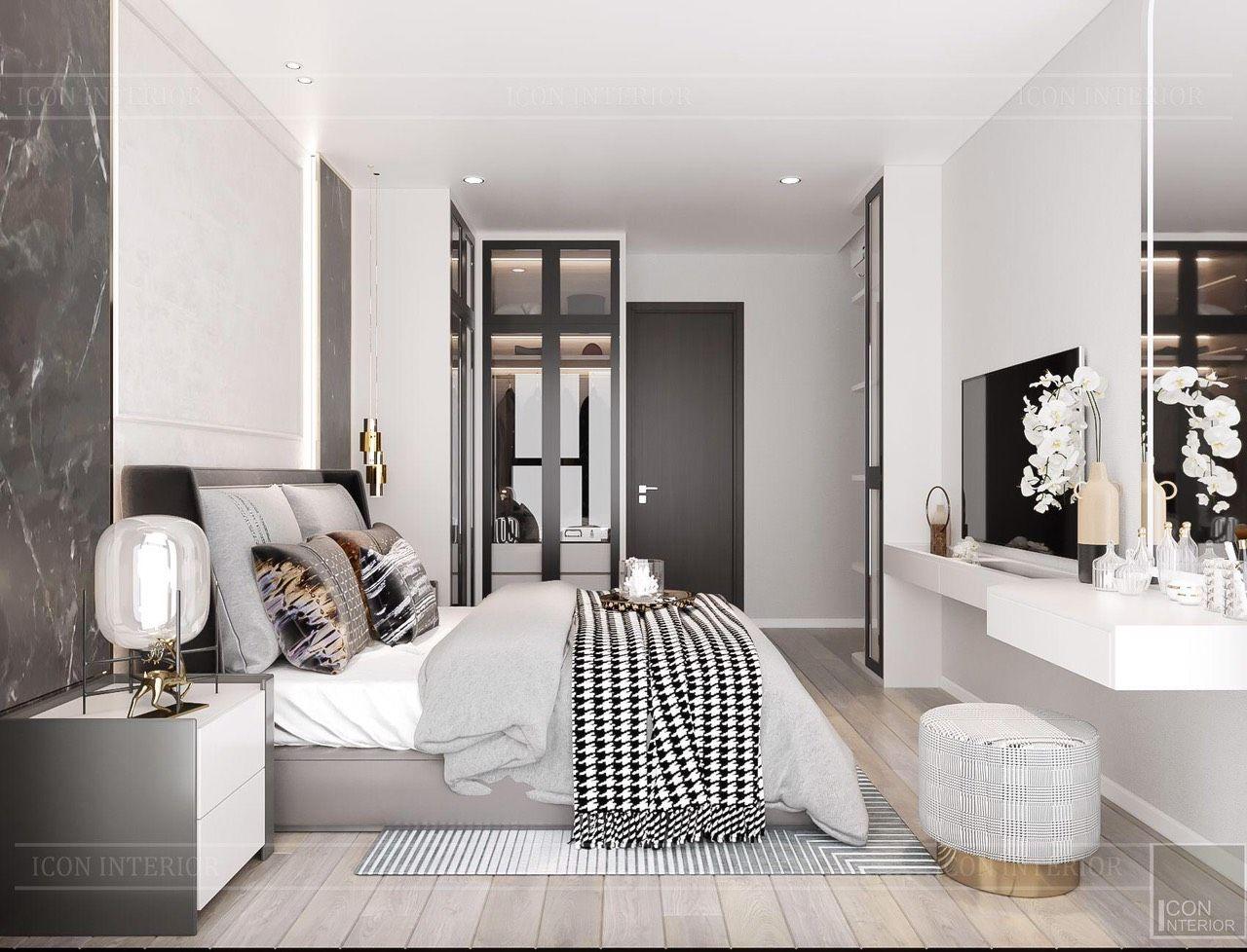 thiết kế nội thất nhà chung cư 90m2 cao cấp