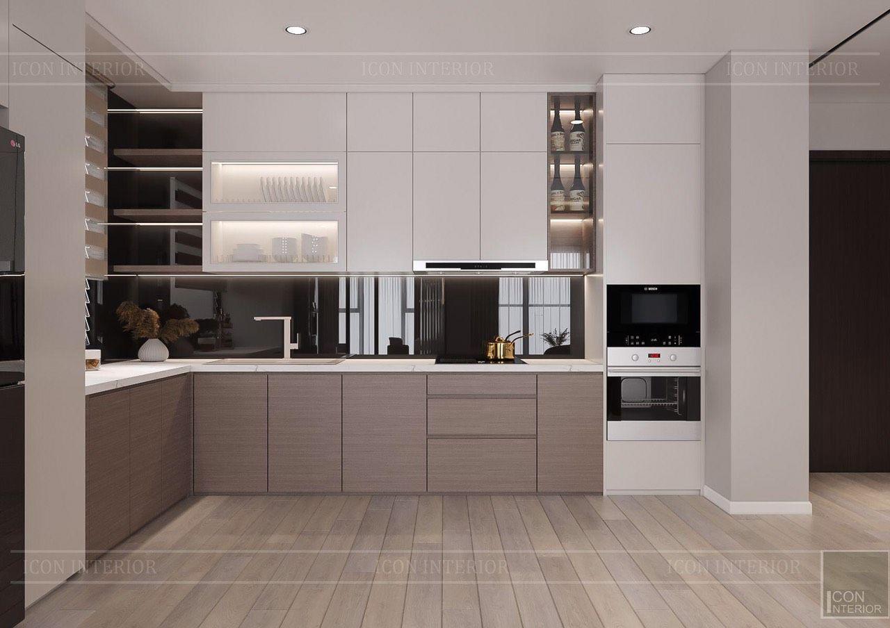 thiết kế nội thất chung cư 90m2 hiện đại