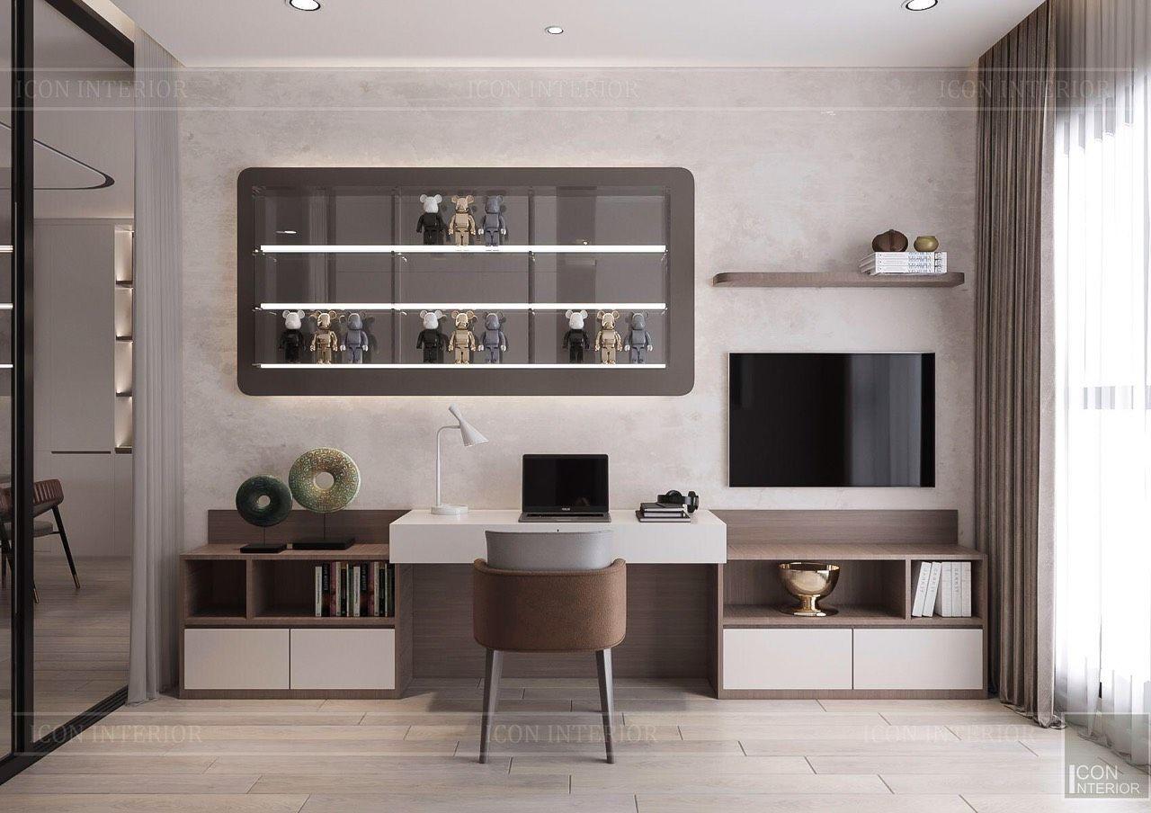 thiết kế nội thất phòng ngủ căn hộ 90m2