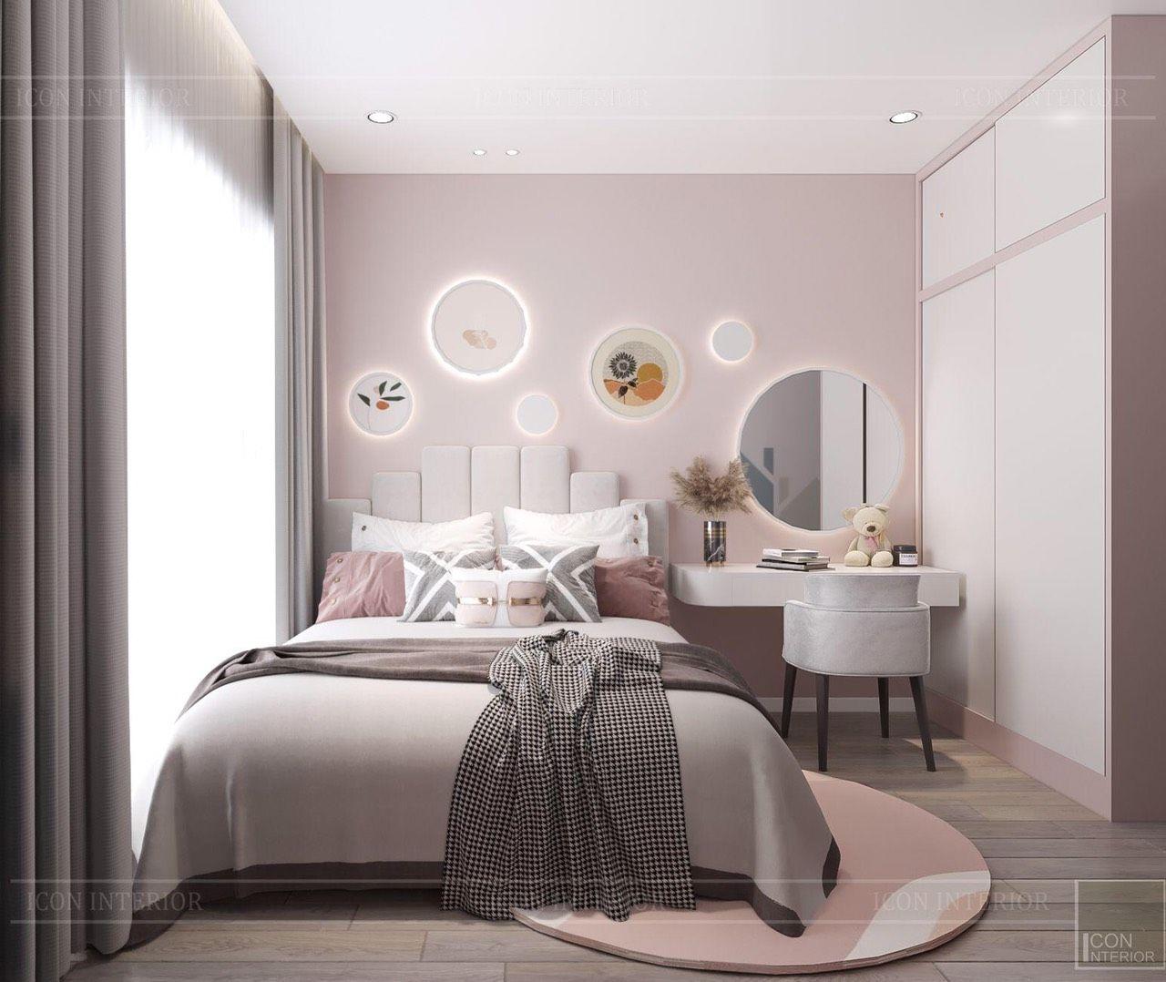 thiết kế nội thất phòng ngủ trẻ em căn hộ 90m2