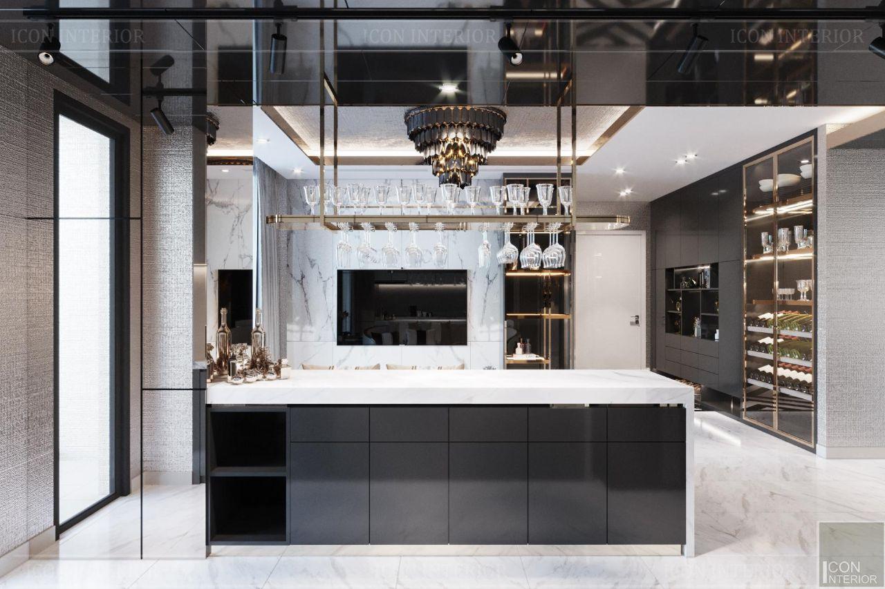 Thiết kế nội thất căn hộ 90m2 Vinhomes Central Park Ms. Linh - phòng bếp