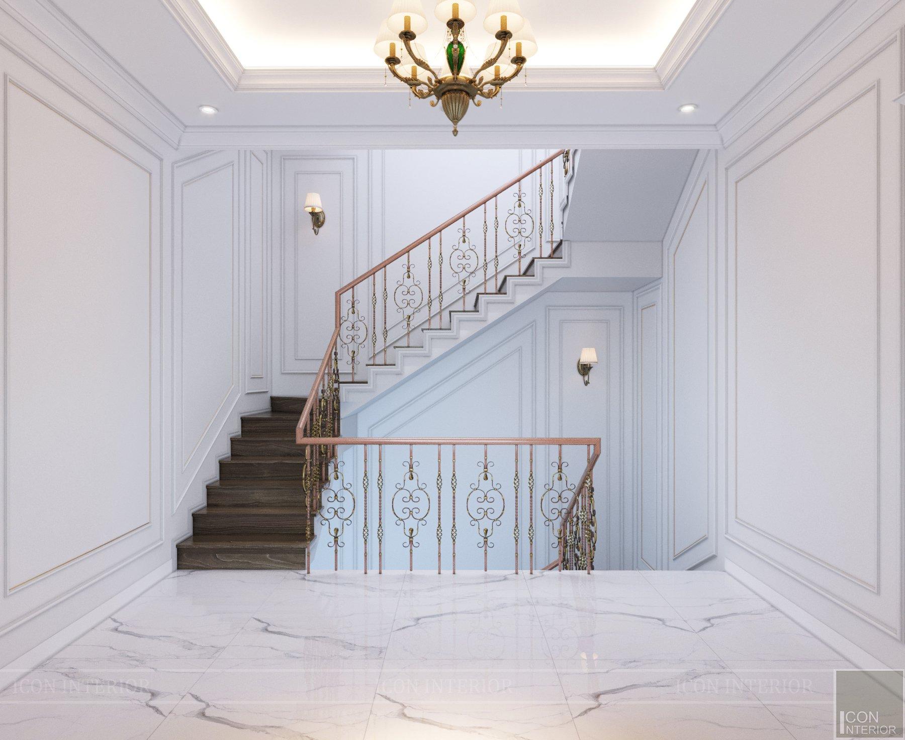 Cách tân cầu thang đẹp với họa tiết sang chảnh
