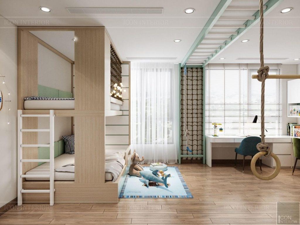 Bố trí phòng cho bé thông minh căn hộ Vinhomes Central Park 90m2 Chị Ngọc Ánh