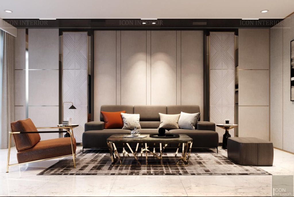 Thiết kế phòng khách biệt thự Hado Centrosa 420m2 Mr. Tùng