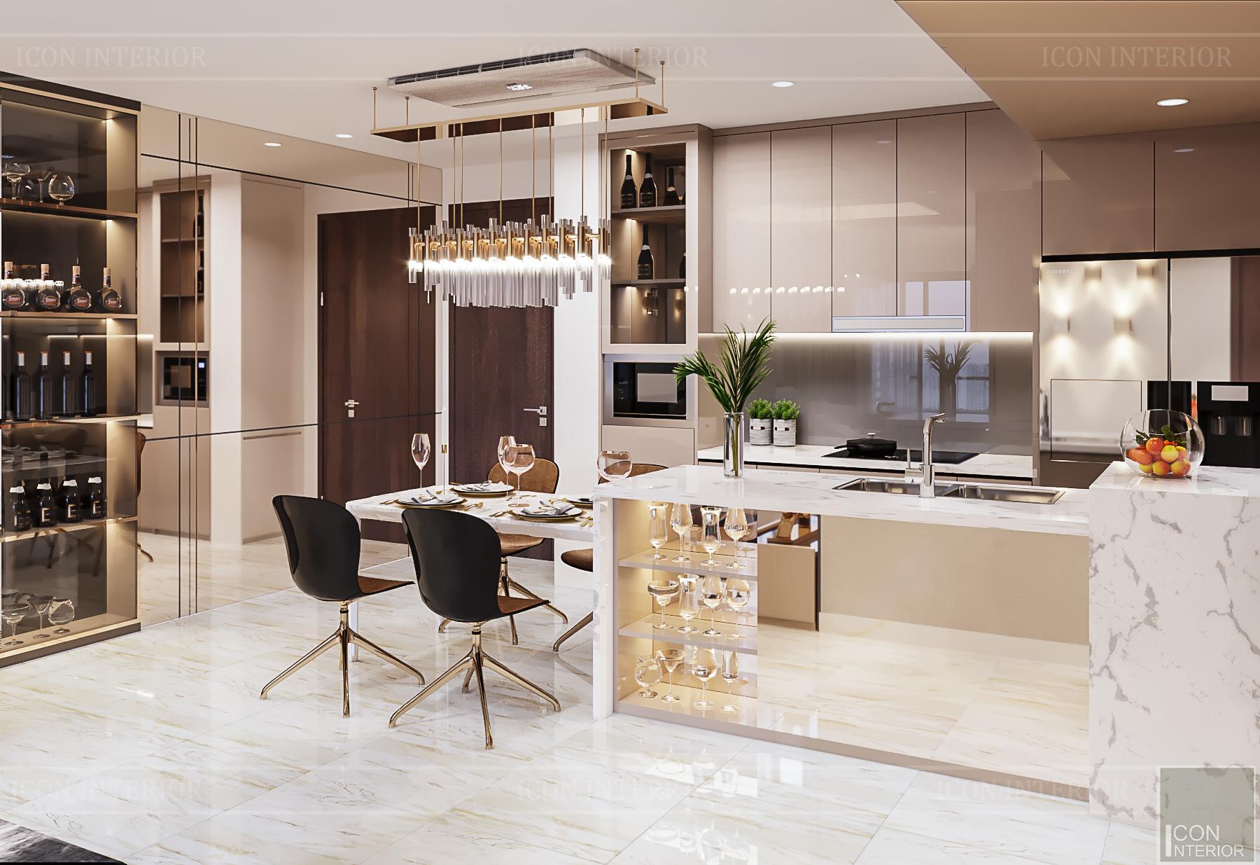 Phòng bếp căn hộ Kingdom 101 70m2 anh Tâm