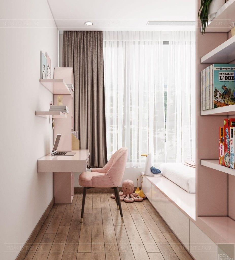 Góc học tạp cho bé tại căn hộ Vinhomes Central Park 90m2 Chị Ngọc Ánh