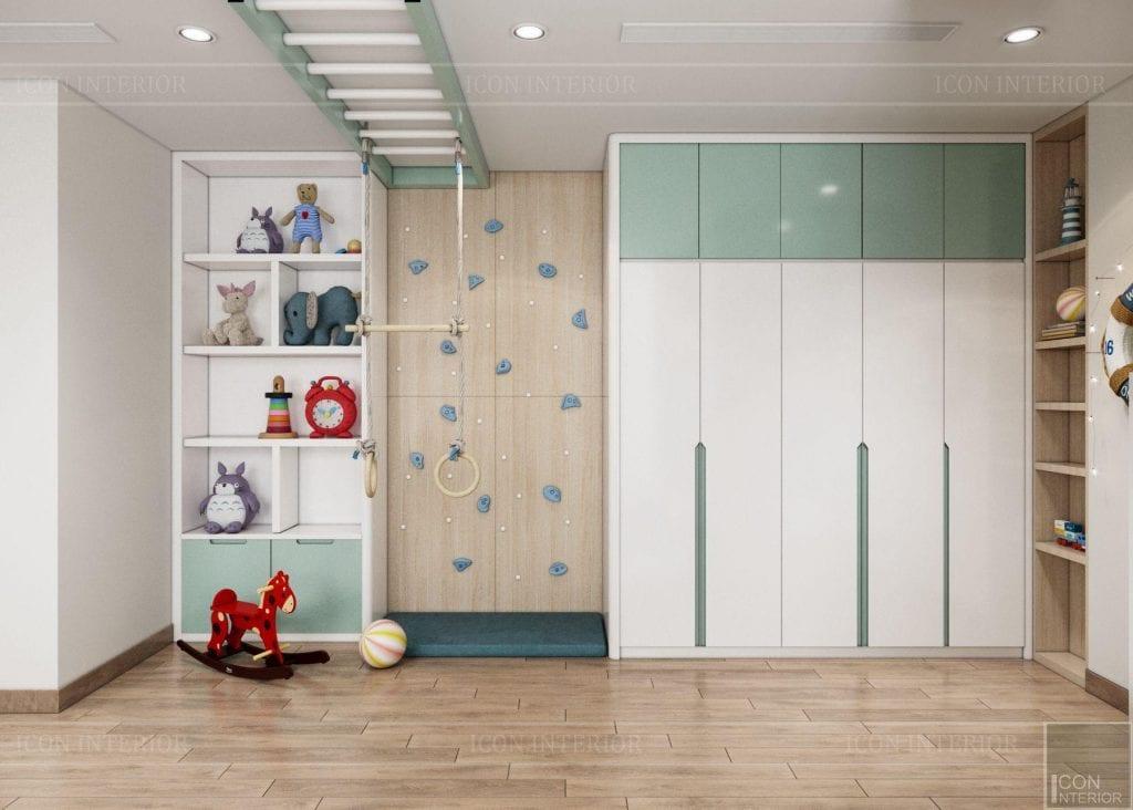 Phòng vận động cho trẻ căn hộ Vinhomes Central Park 90m2 Chị Ngọc Ánh