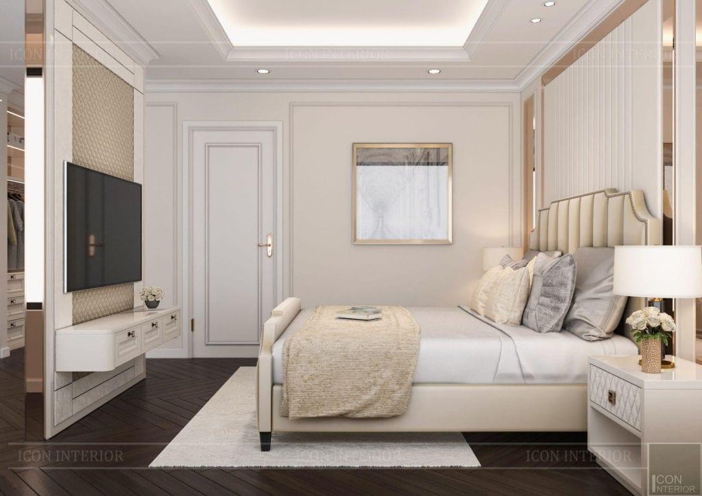 Phòng ngủ master căn Hộ Kingdom 101 80m2 Chị Mai