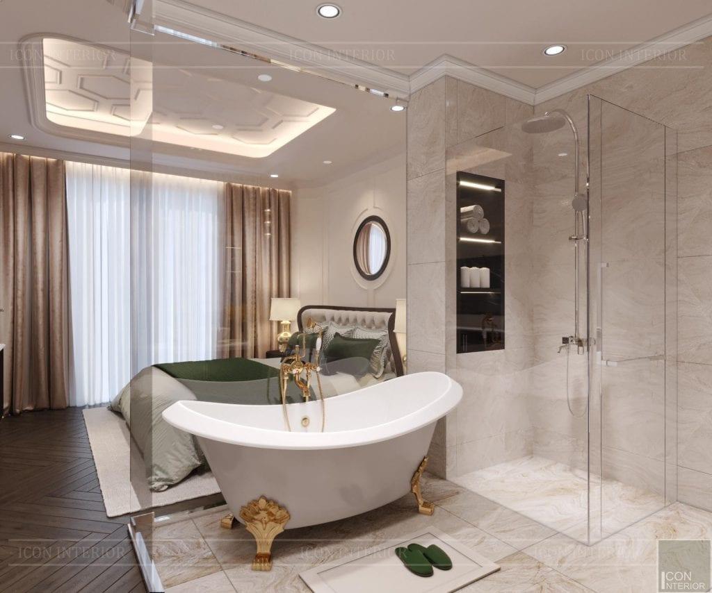 Phòng tắm Tân Cổ Điển Style nhà phố Huỳnh Văn Bánh 288m2 Anh Vũ
