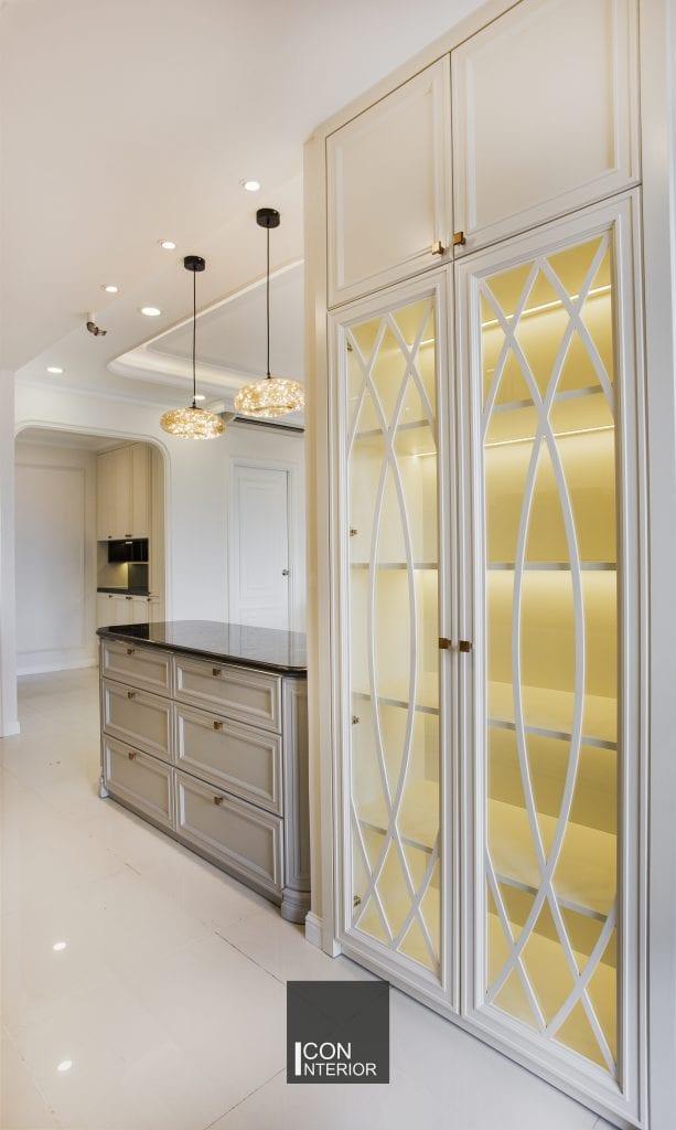 Thiết kế tủ bếp cho nhà bếp căn hộ Sunrise City chị Huệ