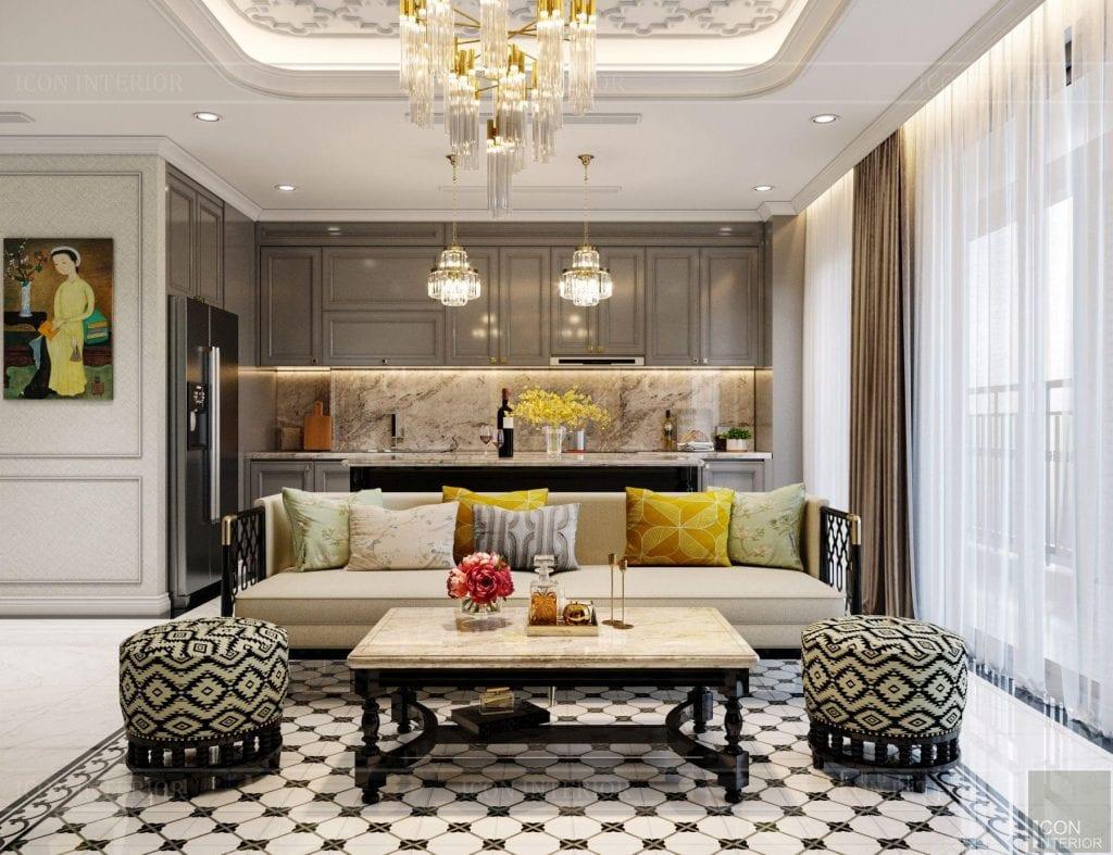 Phòng bếp căn hộ Vinhomes Central Park 90m2 Chị Ngọc Ánh