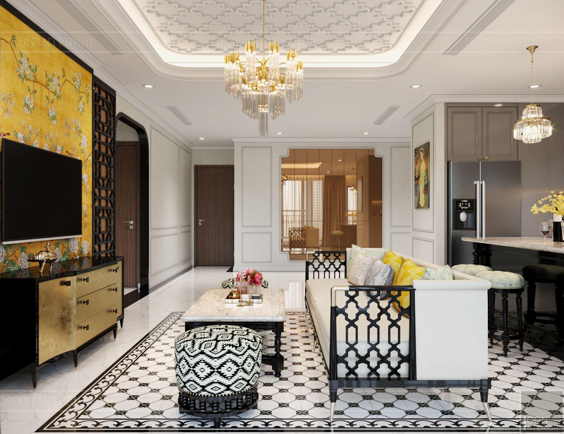Thiết kế căn hộ Vinhomes Central Park 90m2 Chị Ngọc Ánh