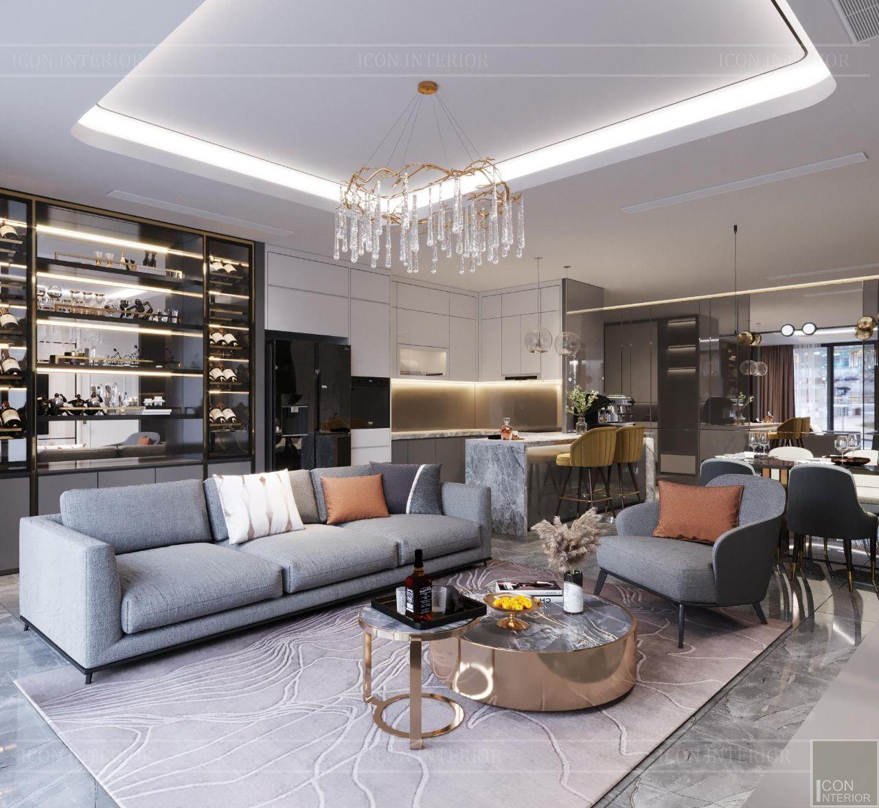 báo giá thiết kế nội thất căn hộ 110m2