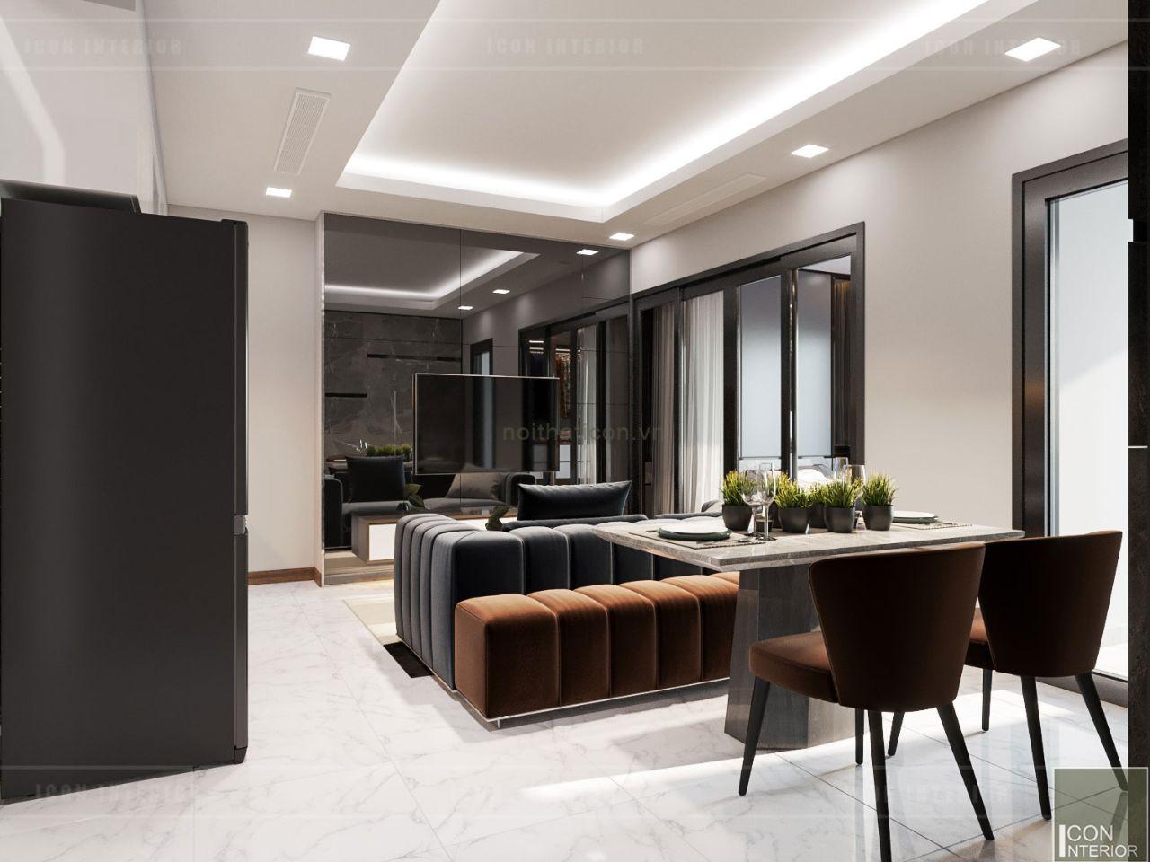 cách bố trí nội thất căn hộ 60m2