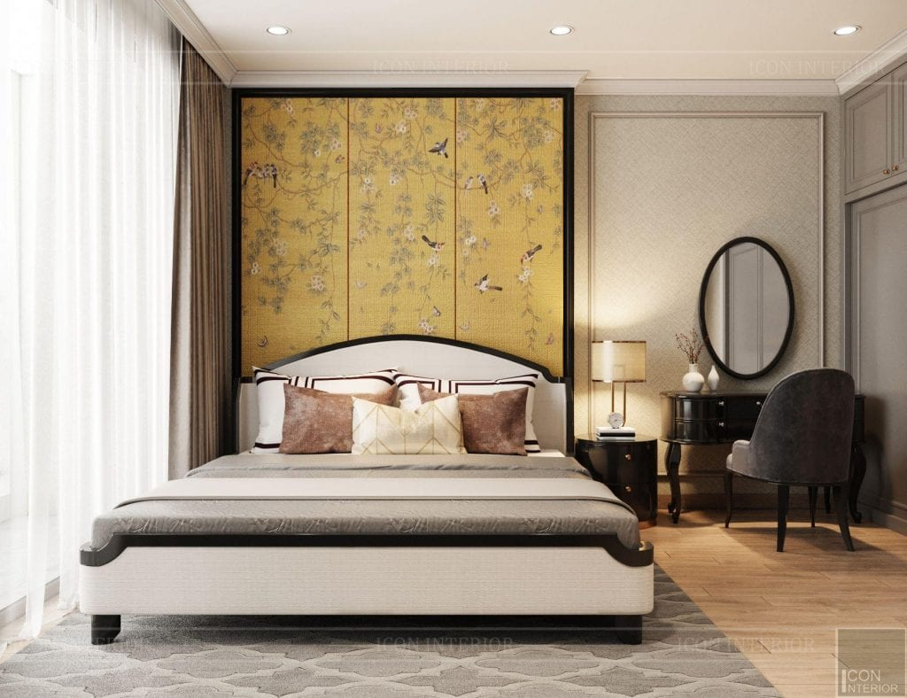 Phòng ngủ căn hộ Vinhomes Central Park 90m2 Chị Ngọc Ánh