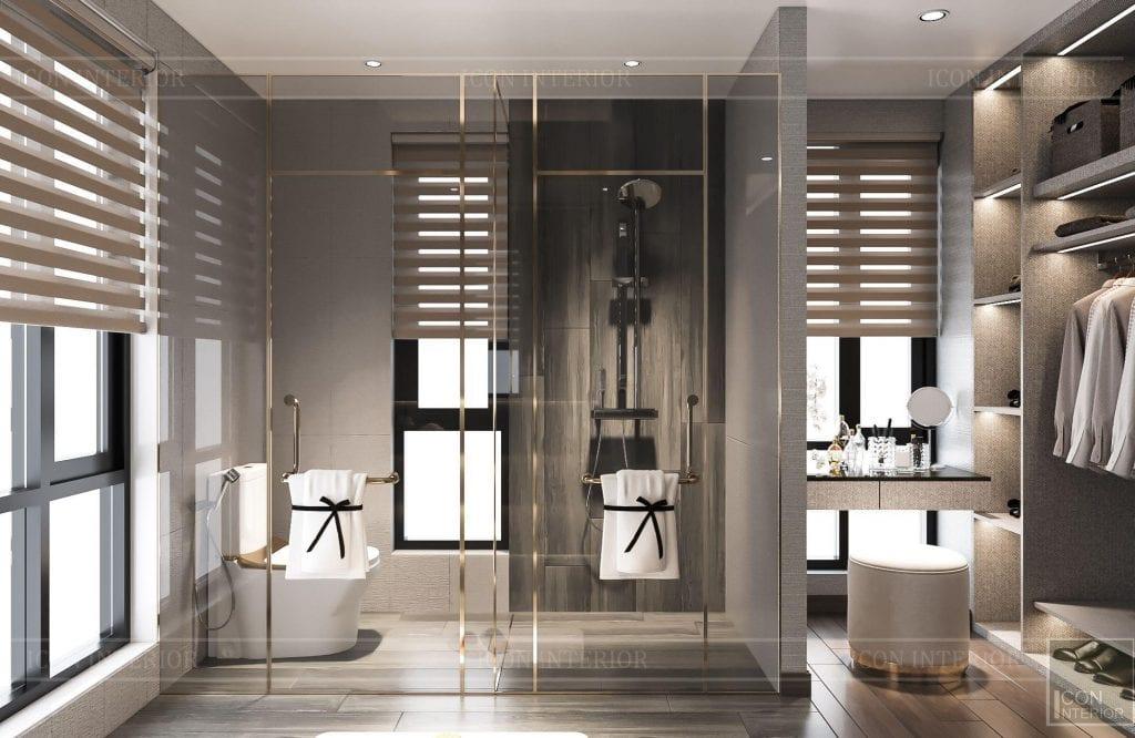 Hài lòng phòng tắm biệt thự Hado Centrosa 420m2 Mr. Tùng