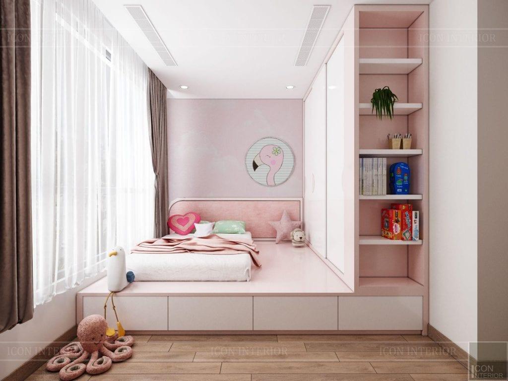 Phòng bé gái căn hộ Vinhomes Central Park 90m2 Chị Ngọc Ánh