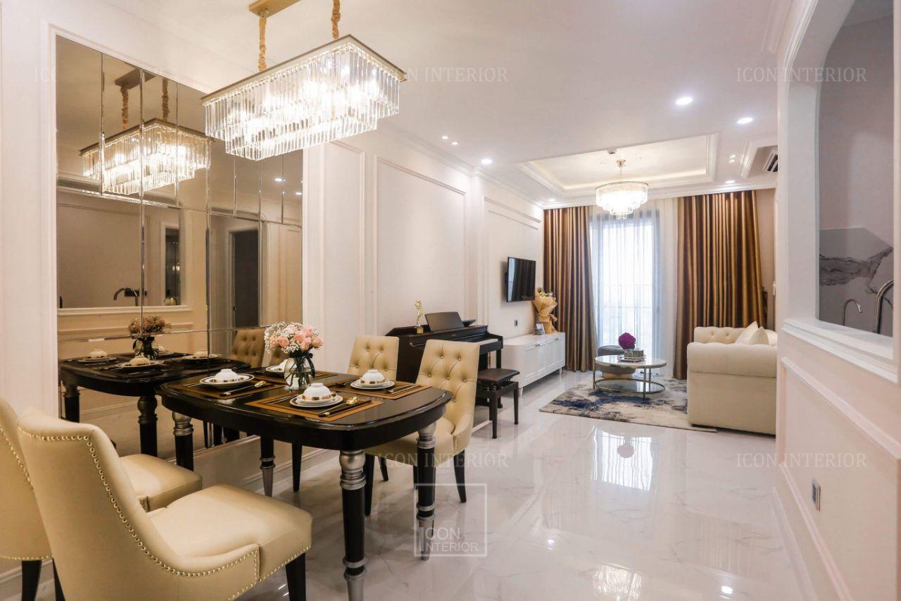 thực tế thiết kế thi công nội thất chung cư 110m2
