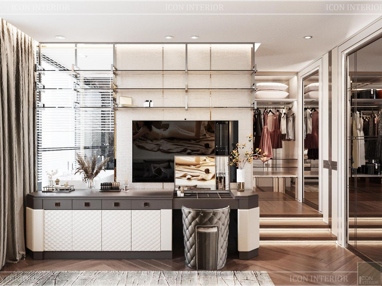 Mặt bằng bố trí thiết kế nội thất căn hộ 90m2