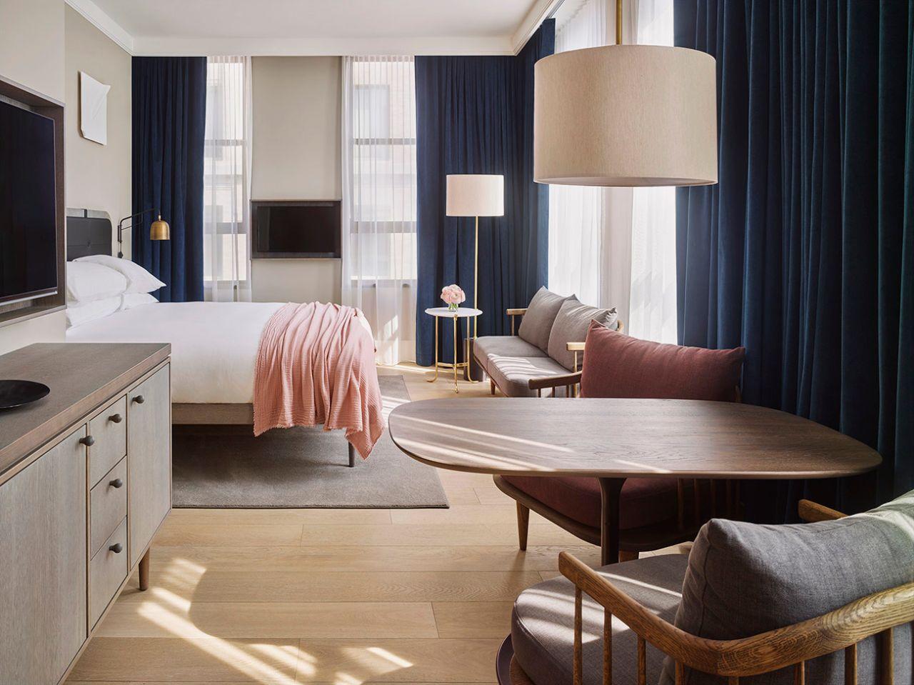 mẫu thiết kế nội thất phòng ngủ bắc âu ấn tượng