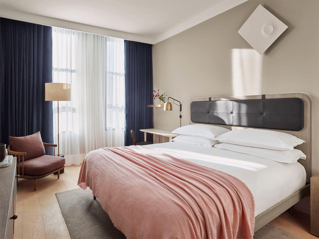mẫu thiết kế nội thất phòng ngủ bắc âu