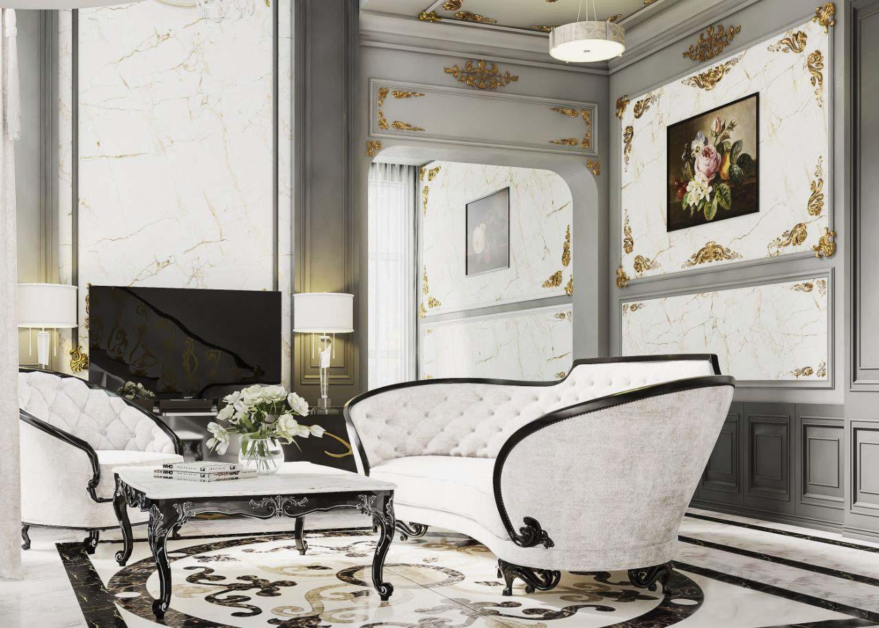 nội thất căn hộ tân cổ điển đẹp