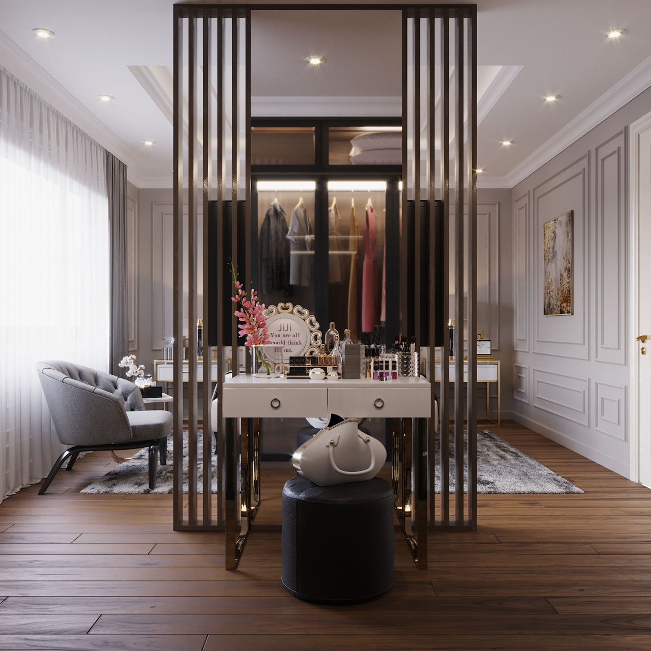 phong cách tân cổ điển trong nội thất chung cư