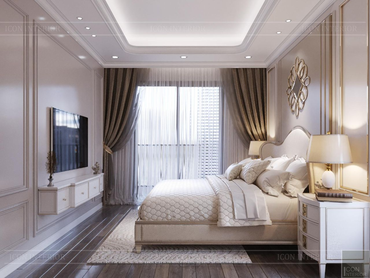 phong cách tân cổ điển trong nội thất