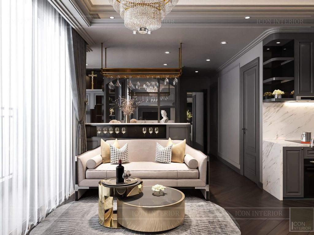 Tâm điểm phòng khách căn hộ Vinhomes Grand Park 2PN Chị Phương