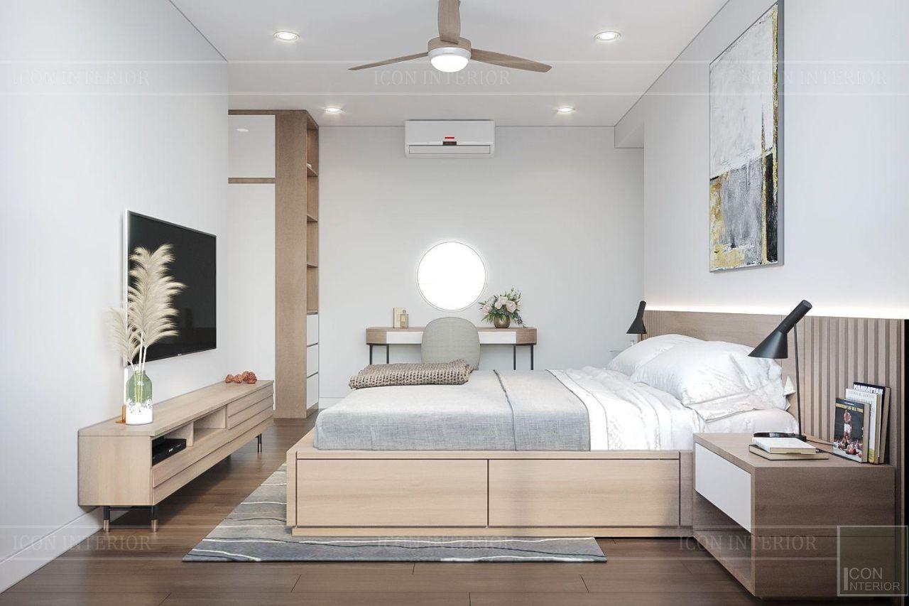 phòng ngủ phong cách bắc âu với gỗ tự nhiên