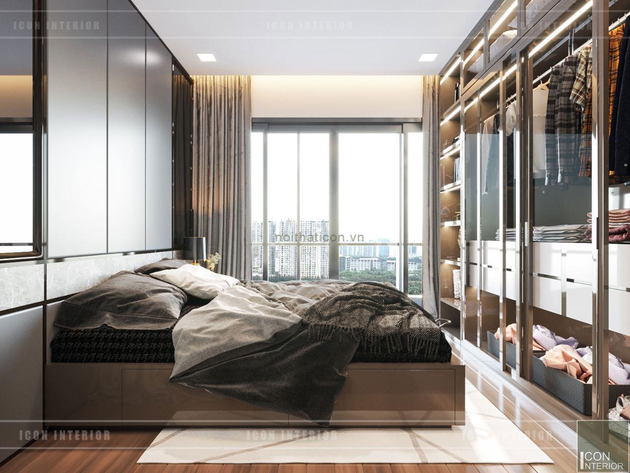 thiết kế căn hộ 60m2 đẹp