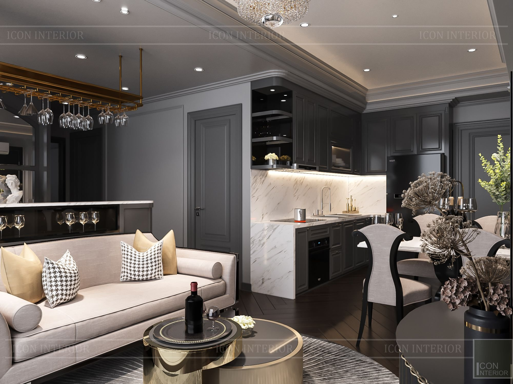 Thiết kế căn hộ Vinhomes Grand Park 2PN Chị Phương