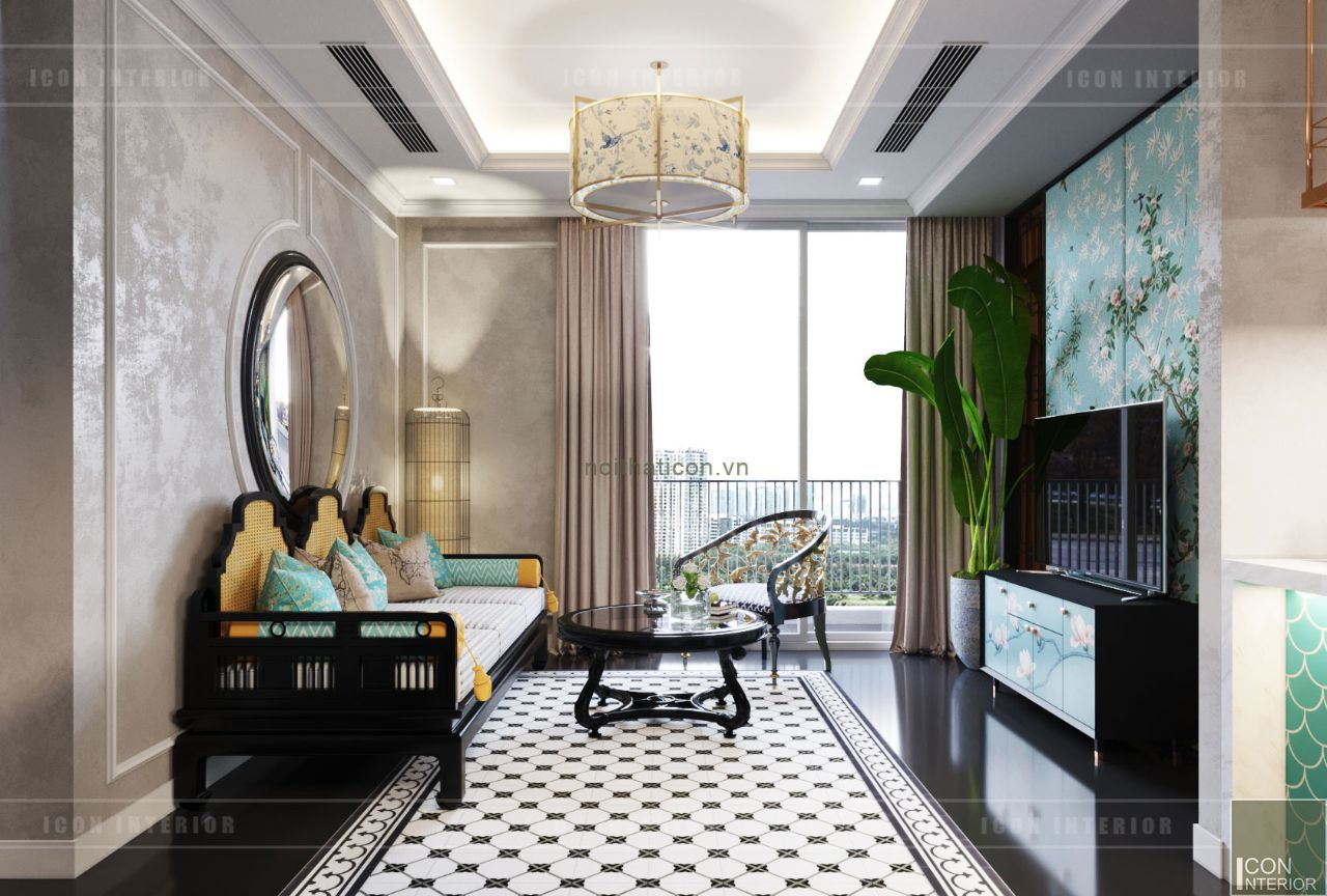 thiết kế nội thất căn hộ 110m2 time city park hill