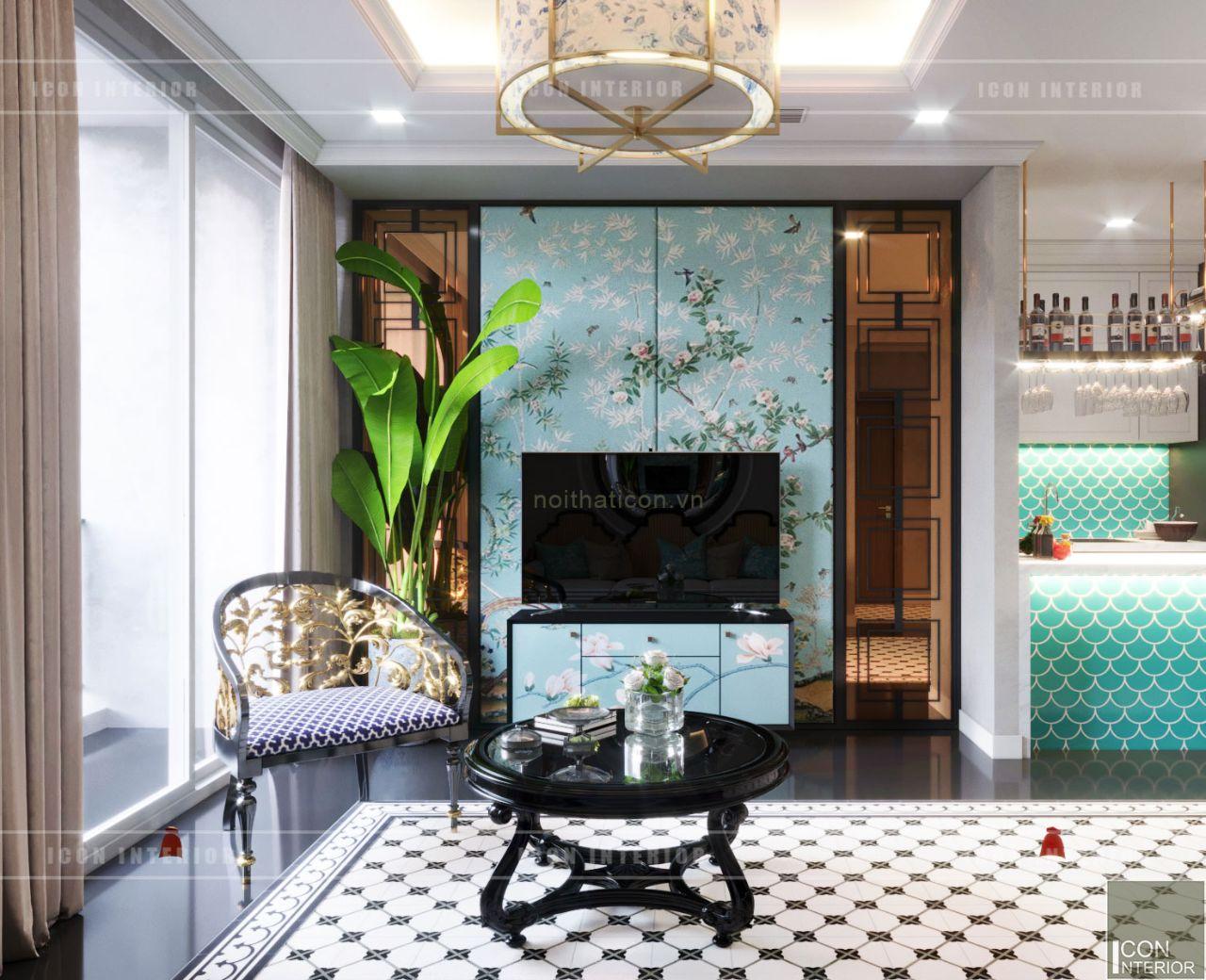 thiết kế nội thất căn hộ đẹp 110m2